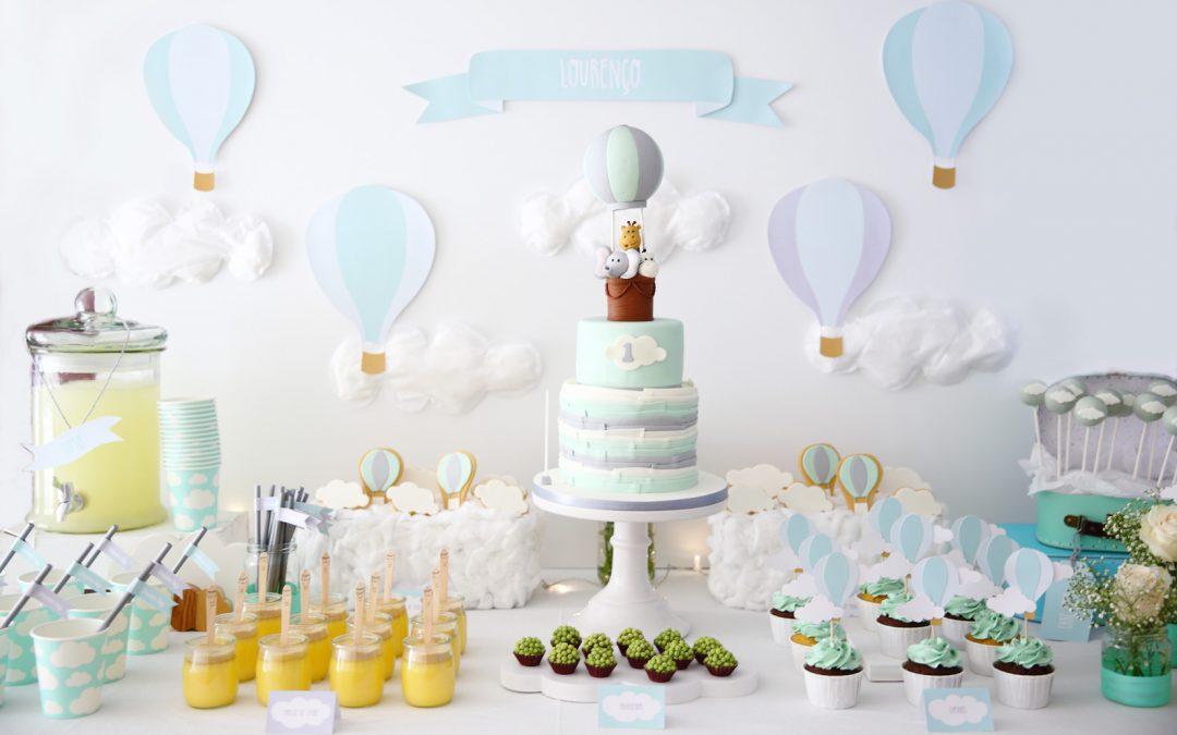 Aniversário Balões de Ar Quente Verde Menta
