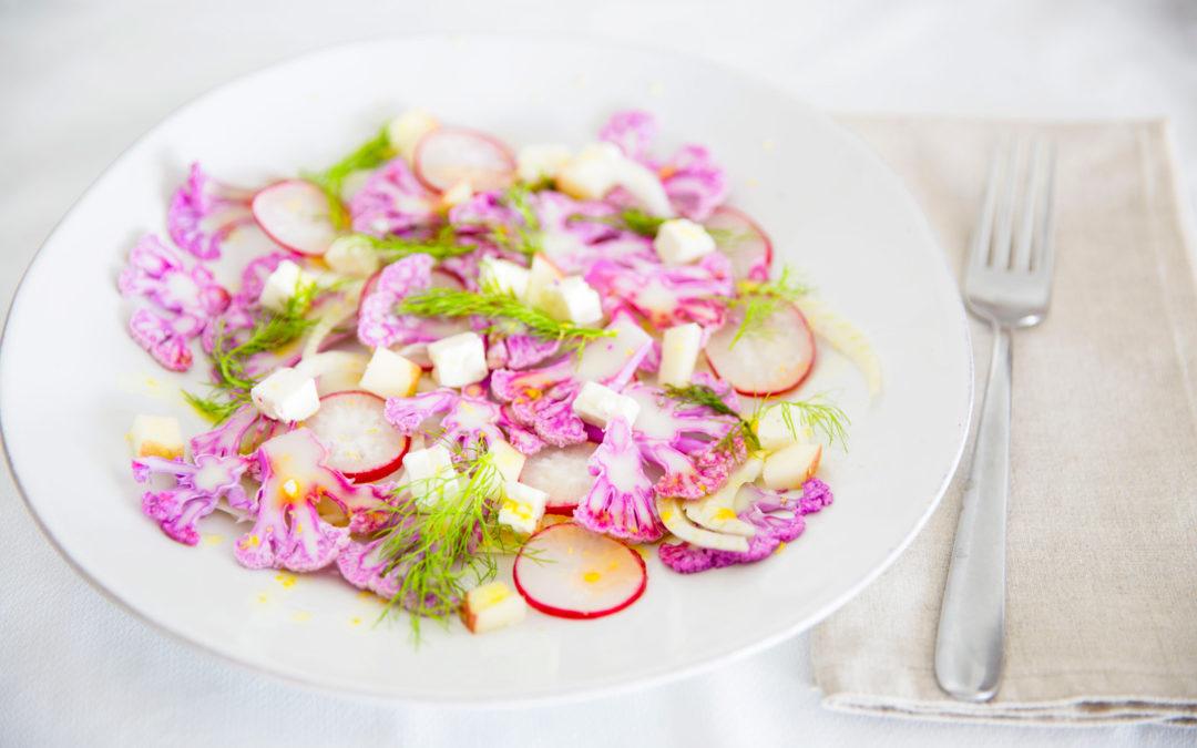 Olá Primavera | Salada de couve-flor roxa