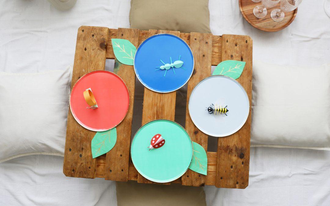 Piquenique em casa [com muitos insectos]